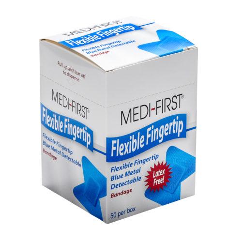Medique Blue Metal Detectable Woven Fingertip Bandages 50/box