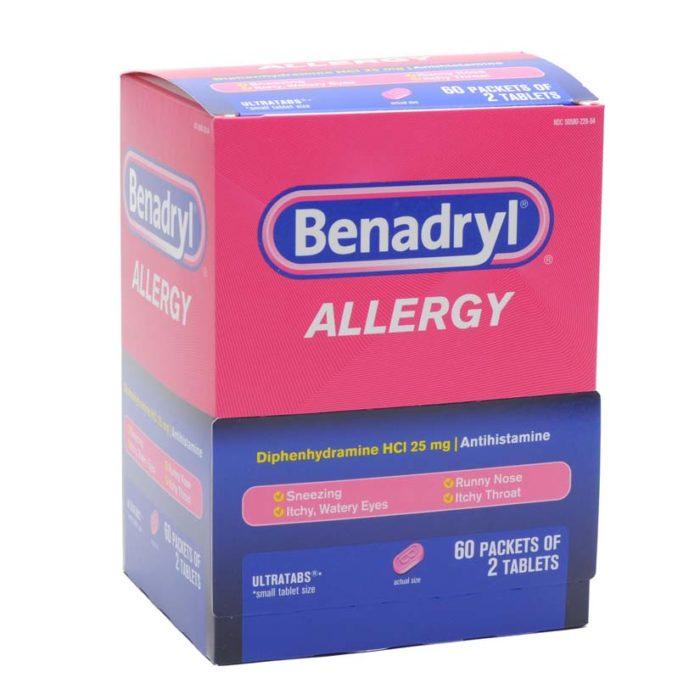 Benadryl Allergy Tablets (60 Pkt/2)