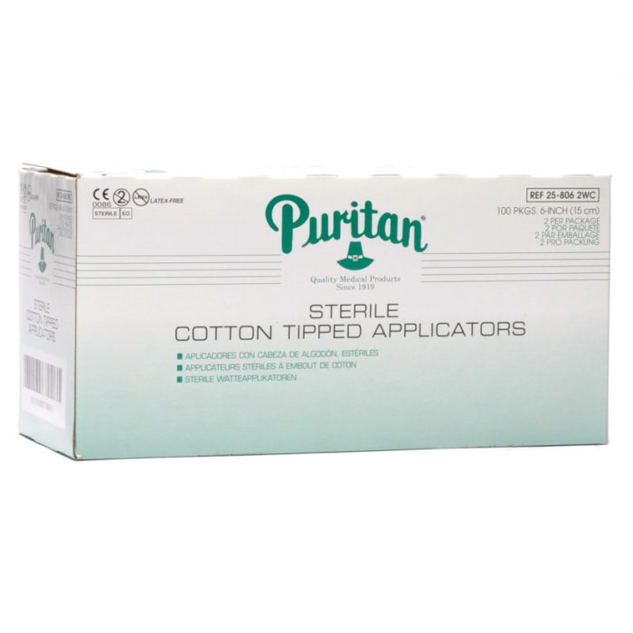Puritan Sterile Cotton Tip Applicators 6'' 100 Pkgs Of 2