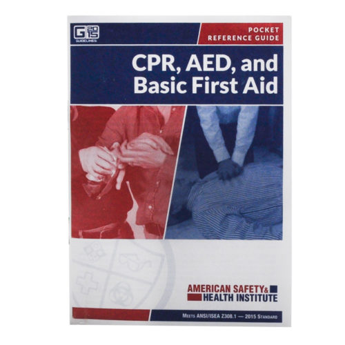 First Aid Pocket Guide 52 Page