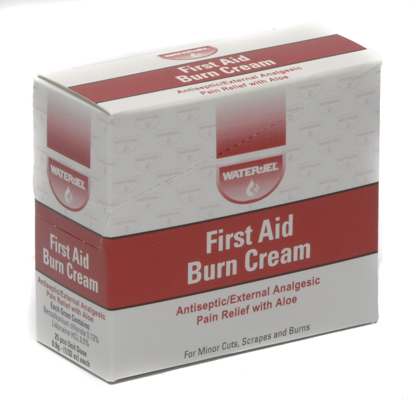 First Aid Cream Water Jel 25 Unit Dose Packets/box
