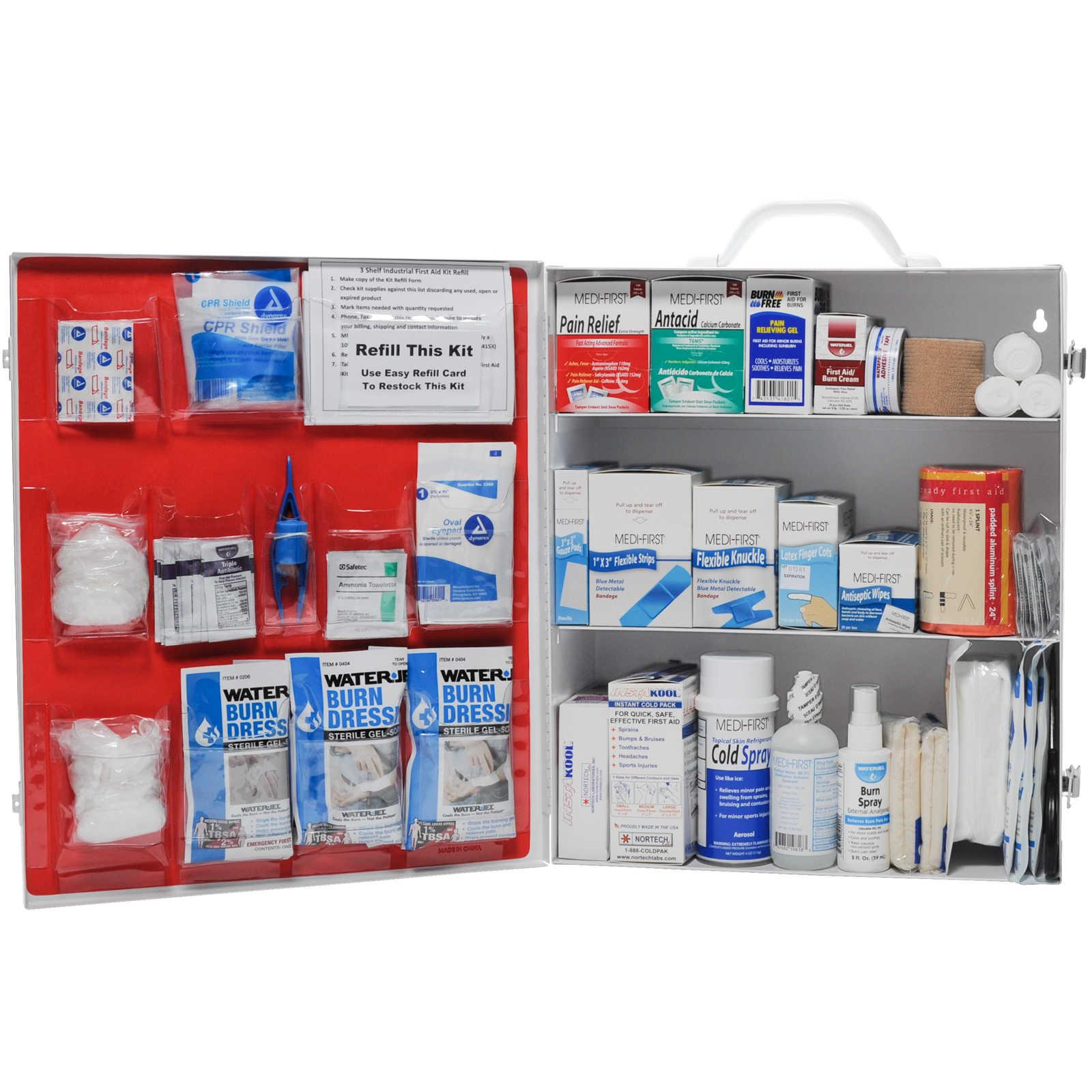 Restaurant First Aid Kit 3 Shelf Complete