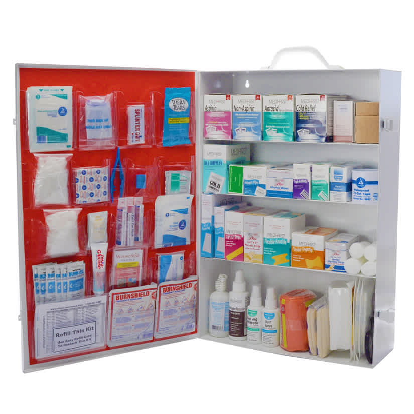 Workplace First Aid Kit 4 Shelf Osha Approved No Logo