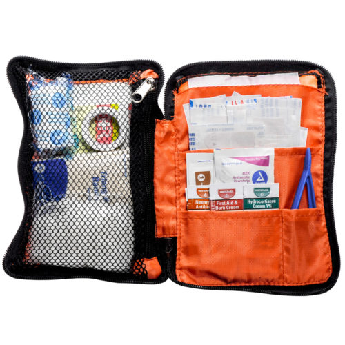 First Aid Kit Orange Zippered Pouch MFASCO