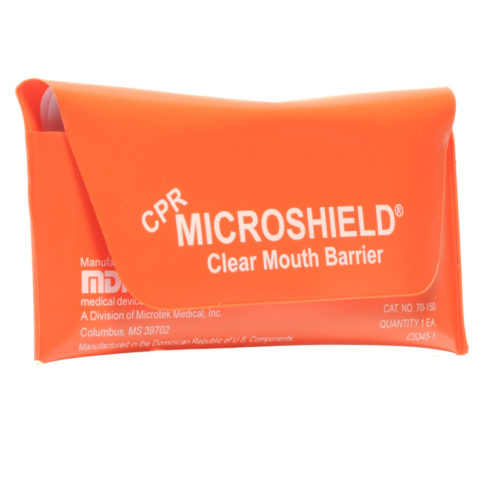Cpr Micro Shield Rescue Breather In Orange Pouch
