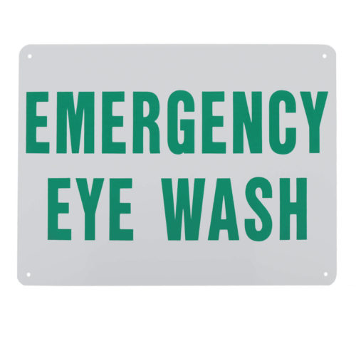 Sign Emergency Eye Wash Plastic 9x12