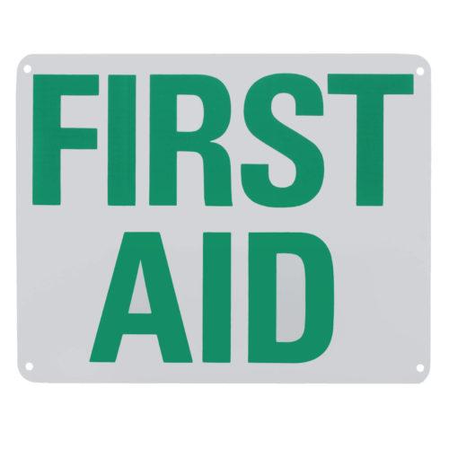 Sign First Aid Plastic 8x10 Each