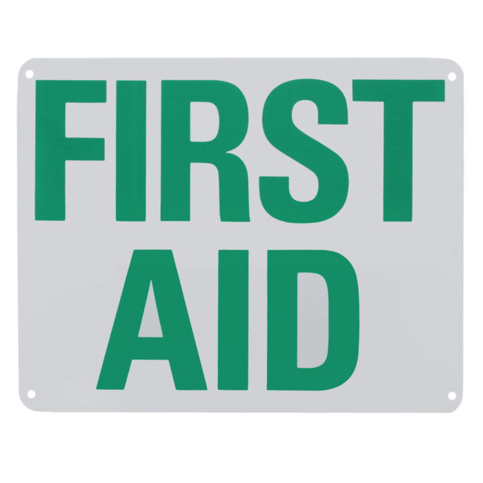 Sign First Aid Plastic 8x10 Each