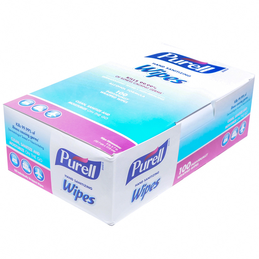 Purell Hand Sanitizer Wipes 100/bx