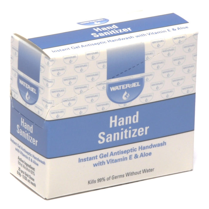 Hand Sanitizer Gel Water Jel Packets 25/box
