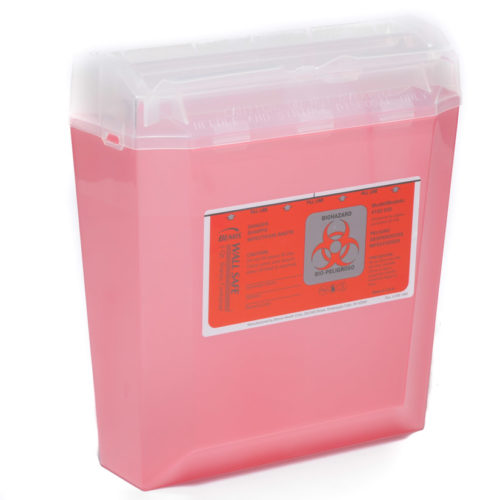 Bemis Biohazard Sharps Container 5 Quart