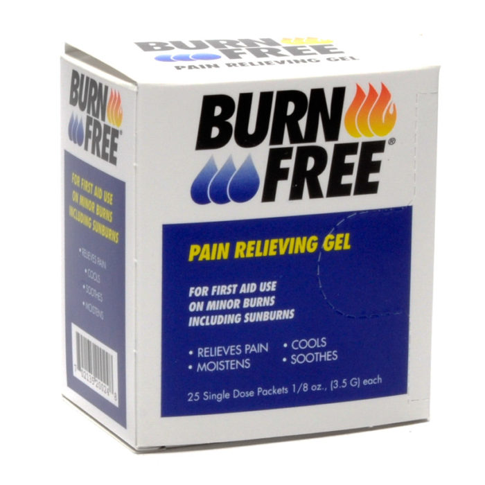 Burnfree Burn Gel Packets 1/8 Oz 25/box