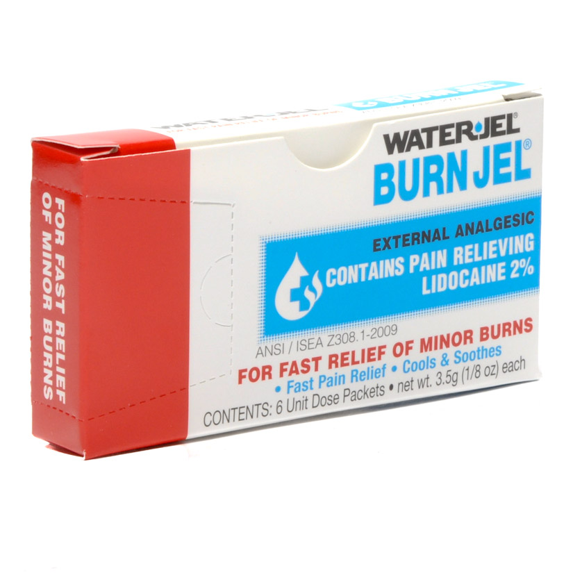 Water Jel Burn Gel Packets 1/8 Oz 6/box