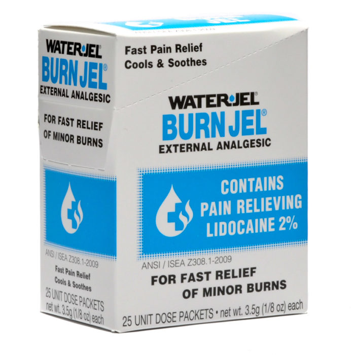 Water Jel Burn Gel Packets Individual Dose 25/box