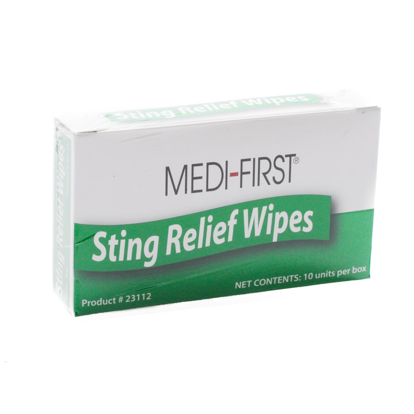 Insect Sting Relief Pads 10/box