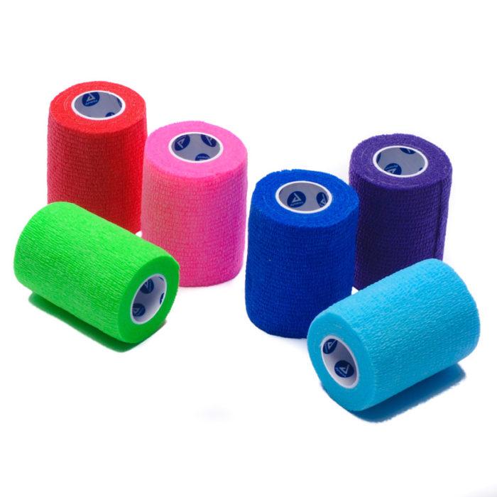 Elastic Bandage Wrap Self Adherent Colors Bulk Box